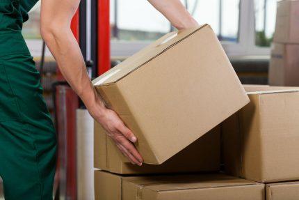 Lifting cardboard boxes