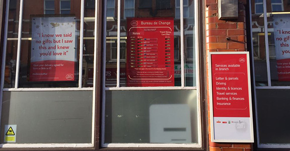 Crouch End Post office services