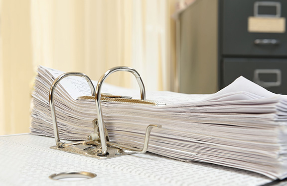 Organised document ring-binder