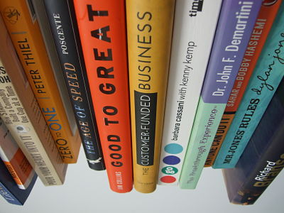 Business books available for members to borrow