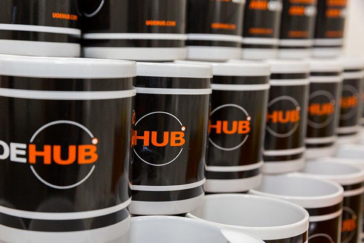 UOE branded mugs
