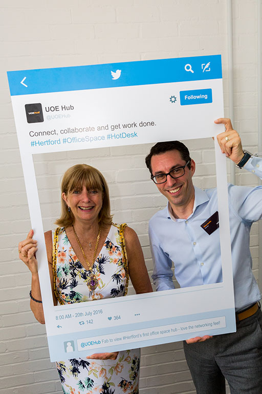 Linda Radford & Managing director of UOE – Elliot Jacobs