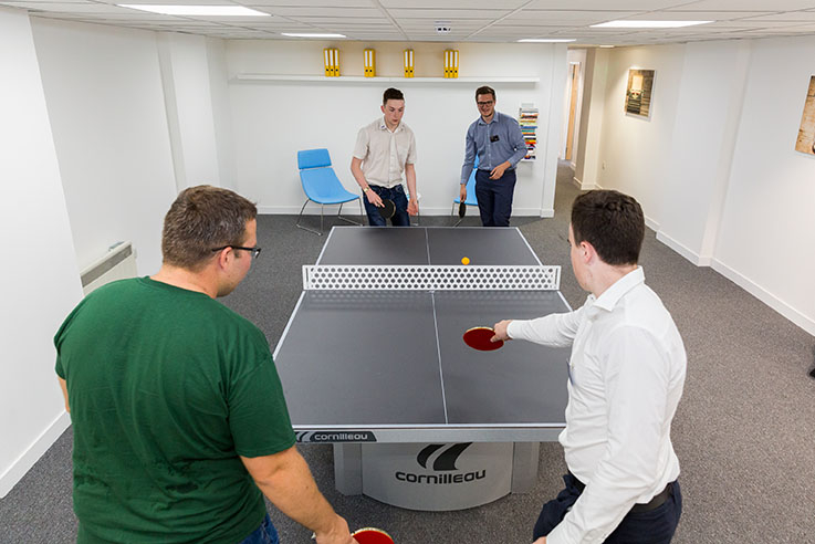 Table tennis at UOE Business Hub