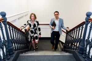 Stairs at UOE Business Hub Hertford
