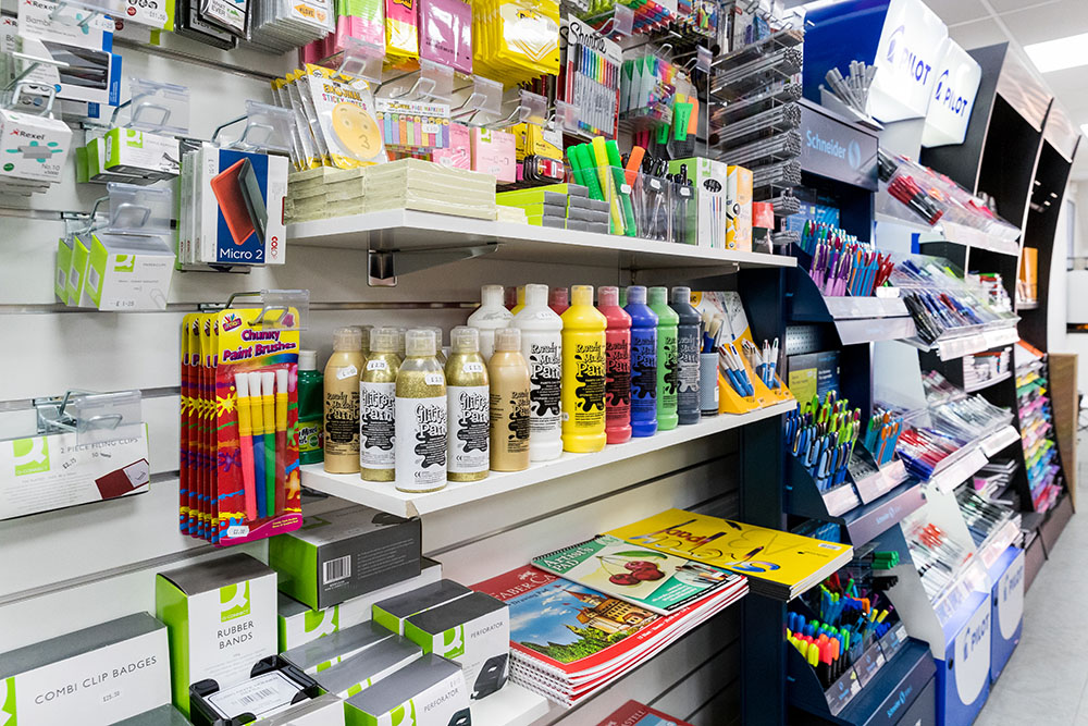 Extensive range of stationery