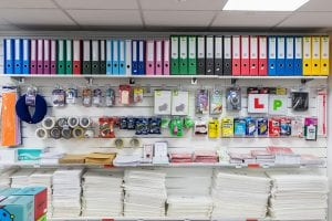 School stationery shop
