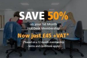 Hot desking membership offer