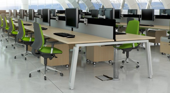Double Office Bench Desk