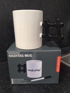 Hashtag gift mug