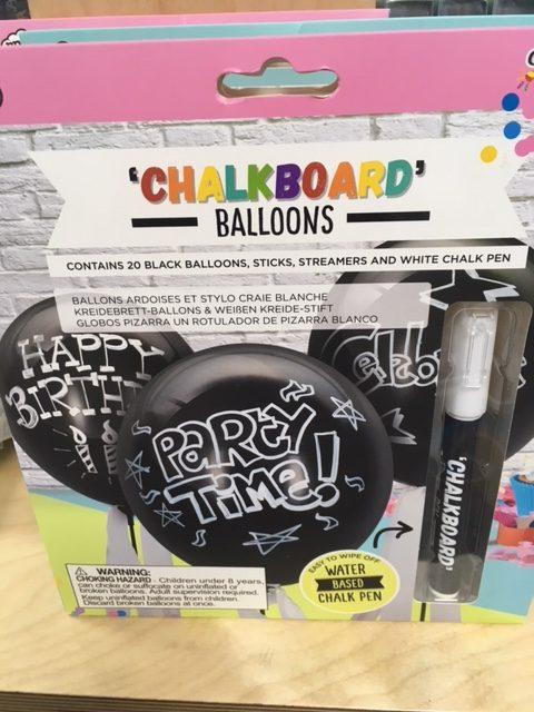 personalised black balloons