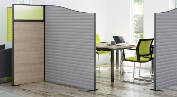 Floor standing acoustic office screens