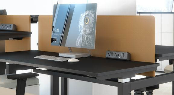 Adjustable height desk, nanotechnology