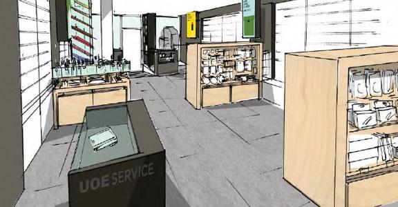 Camden Store, sketch
