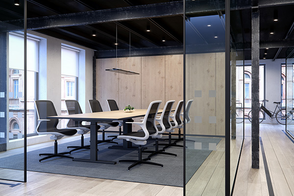 Recycable Tempo Chairs, in a boardroom
